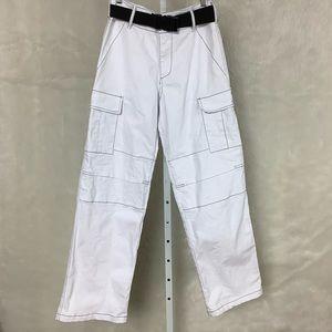 I.Am.Gia. White Ace Cargo Pocket Pants